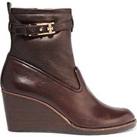 Tory Burch Primrose Wedge Bootie 75MM Coconut Brown Size 7.5