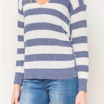 Noelle Striped Pullover Sweater