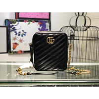 GUCCI WOMEN'S LEATHER GG MARMONT INCLINED CHAIN SHOULDER BAG