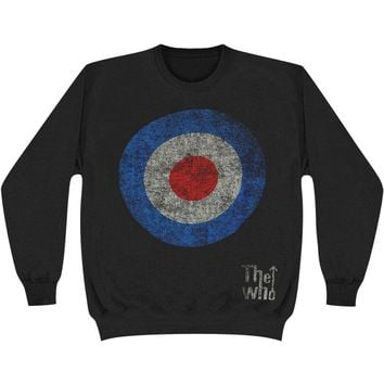 Who Men's  Target Distressed Sweatshirt Black Rockabilia