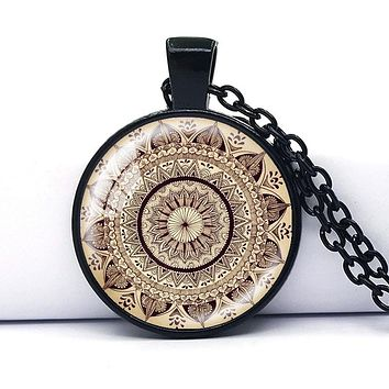 Collares 2017 Fashion Mandala Necklace Pendant for Women Vintage Yoga Collier Choker Necklace Jewelry Bijoux Colar Feminino