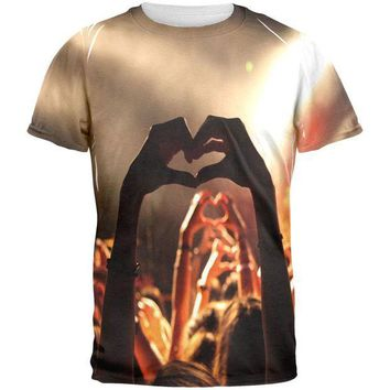 DCCKU3R Love in a Crowd All Over Mens T Shirt