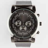 Chrono Mesh Band Watch Hematite One Size For Men 26080418901