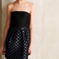 NWT ANTHROPOLOGIE by 4.COLLECTIVE FLARED DOT JACQUARD STRAPLESS PARTY DRESS 0