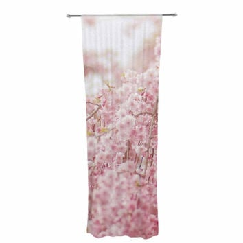 "Debbra Obertanec ""Spring Pinks"" Floral Digital Decorative Sheer Curtain"