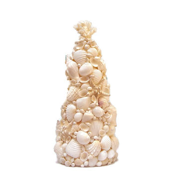 White Tabletop Seashell Tree