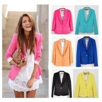 Fashionwoman —  #3212 Candy Color Cultivate one's morality  Suit