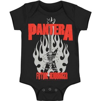 Pantera Boys' Future Headbanger Romber Bodysuit Black Rockabilia
