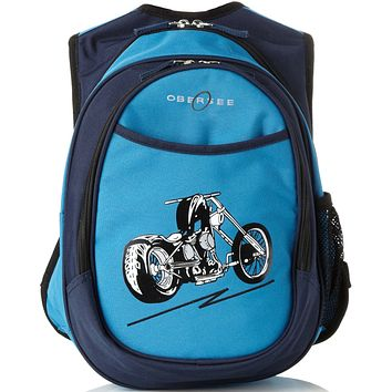Obersee Kids Pre-School All-In-One Backpack With Cooler - Motorcycle