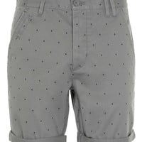 Grey Cross Motif Shorts - Shorts - New In - TOPMAN USA