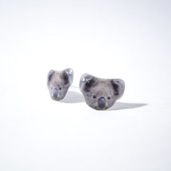Australia Koala cute Jewelry Earrings  tiny jewelry, handmade items, Unique Gift with linen cotton bag