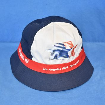 80s Adidas 1984 Olympic Games Los Angeles Bucket Hat