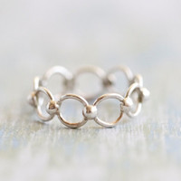 Strong Link - Sterling Silver Chain Ring