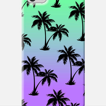 PALM TREE iPhone 6 Plus Case, Sunset iPhone 6 Plus Case,Tropical Island, Hawaii Cell Case, Tropical iPhone Case, Surfer iPhone 6 Plus case