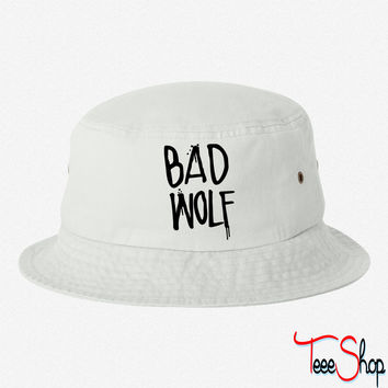 Dr Who Bad Wolf bucket hat