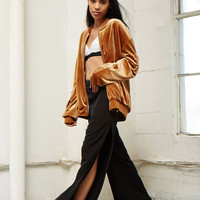Woven Flared Side-Slit Pants