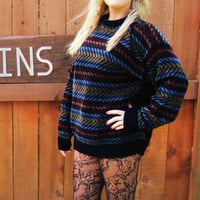 vintage Dockers sweater. hipster slouchy oversized grandpa sweater. grunge sweater.