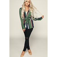 Brave Heart Lightweight Blazer (Green/Multi)