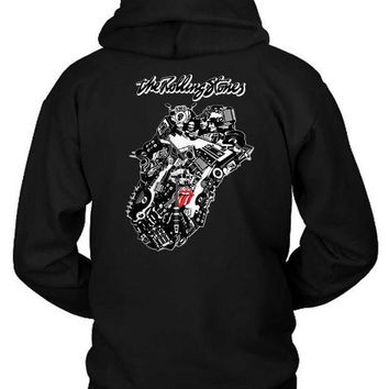 The Rolling Stones Twenty Eight Logo Hoodie Two Sided