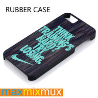 Mint Nike Quote On Wood iPhone 4/4S, 5/5S, 5C, 6/6 Plus Series Rubber Case