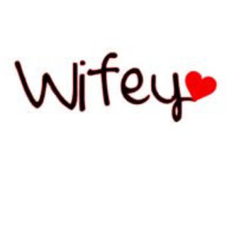 Wifey Vinyl Decal, Laptop Decal, Window Decal, Cell Phone Decal, Wedding Gift, Bridal Shower Gift