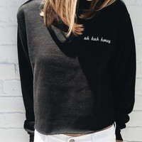 NANCY UH HUH HONEY EMBROIDERY SWEATSHIRT