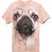 The Mountain Pug Face T-Shirt - Mens Tee - Brown