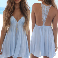 Rosemary Beach Nights Light Blue Intimate Dress