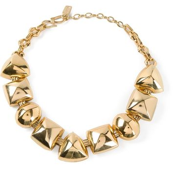 Yves Saint Laurent Vintage charm link necklace