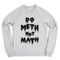 Meth Not Math-Unisex Heather Grey Sweatshirt