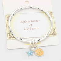 """•""""Life is better at the Beach"""" Charm Message Bracelet"""