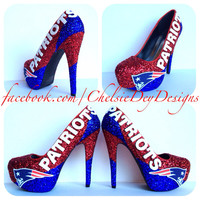 New England Patriots Glitter High Heels
