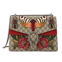 Gucci GG Dionysus Moth Butterfly Supreme Medium Bag