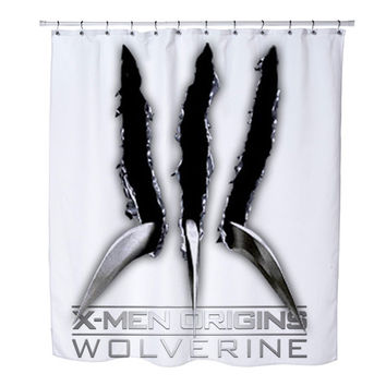 X-MEN with WOLVERINE CLAWS custom Shower Curtains