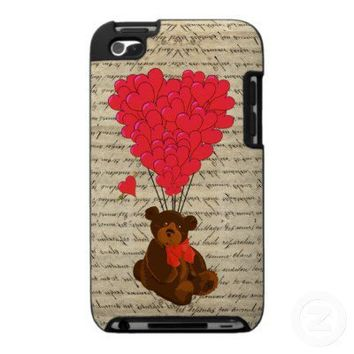 Teddy bear and heart ipod touch 4g cases from Zazzle.com