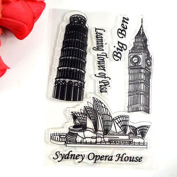 COOLHOO sydney opera house clear Transparent Stamp DIY Scrapbooking/Card Making/Christmas Decoration Supplies