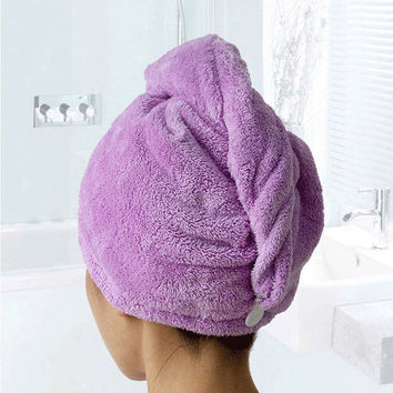 Quality Thickened Magic Hair Drying Towel Microfiber Quick Dry Bath Hair Towels Absorbent Coral Fleece Quick Dry Towel Hat