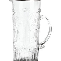 H&M - Patterned Glass Pitcher - Clear glass