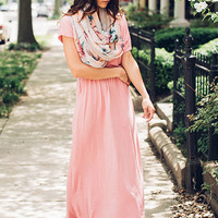 My Aphrodite Coral Maxi Dress