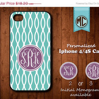 20% OFF SALE Personalized iPhone 4 Case - Plastic iPhone case - Rubber Silicone iPhone case - Monogram iPhone case - iPhone 4s case - MC081