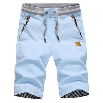 drop shipping   summer solid casual shorts men cargo shorts plus size 4XL  beach shorts M-4XL AYG36