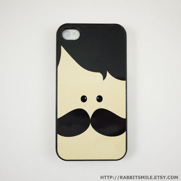 Mr. Mustache iPhone 4 Case, iPhone 4s Case, iPhone 4 Cover, Hard iPhone 4 Case