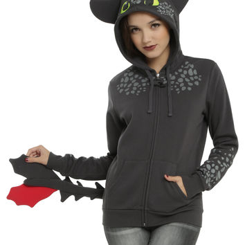 How To Train Your Dragon Toothless Cosplay Girls Hoodie