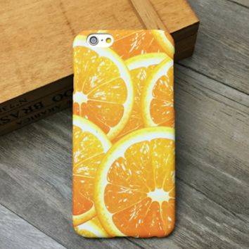 Unique Orange Creative Vivid Designer Cool Case for iPhone