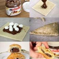 Nutella and puff pastries YES PLEASE!