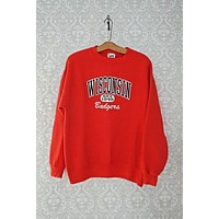 Vintage Wisconsin Badgers  Crewneck Sweatshirt