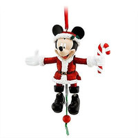 disney parks christmas santa mickey mouse marionette ornament new with tag