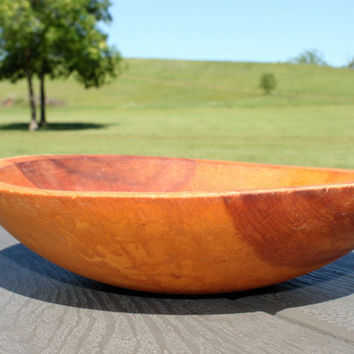 Vintage Wood Bowl Solid Maple, Wood Dough Bowl