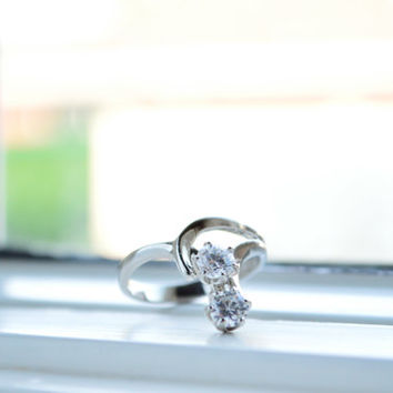 Floating Sterling Silver Ring - Delicate Silver Ring - Promise Ring