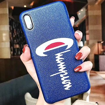 Champion Phone Cover Case For iphone 6 6s 6plus 6s-plus 7 7plus 8 8plus iPhone X XS XS max XR